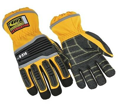 Ringer's 314-11 Clarino Palm Fouchette Extrication Gloves Yellow X-Large