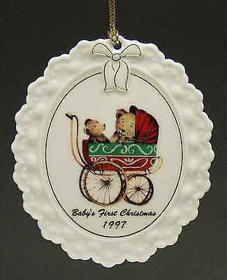 Wedgwood BABY'S FIRST CHRISTMAS Ornament 1997 4030045