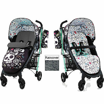 Cosatto Yo 2 Pushchair Stroller Tattoodle With Footmuff And Rainvover