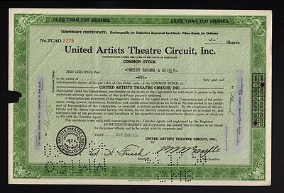 United Artists Theatre Circuit Inc 1956 issued to Tweedy Browne & Reilly