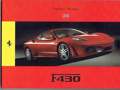 Ferrari F430 Coupe Owner's Manual ENGLISH Feb 2009 134 pages