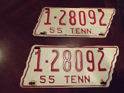 1955 Tennessee License plate Davidson county
