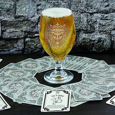 Game Of Kings Adult Drinking Card Game Beer Goblet Glass Themed Drinking Game