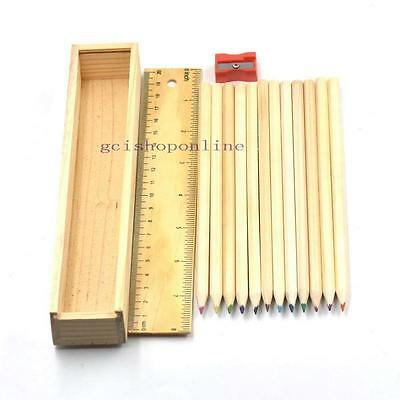 One Box Wood Pencil Crayon For Children Stationery Sketch Drawing Mixed Colorful