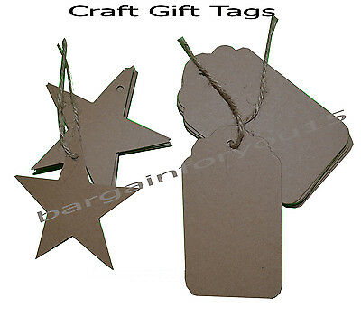 12pc Craft Brown Paper Gift Tags Wedding Vintage Scallop Tags With String