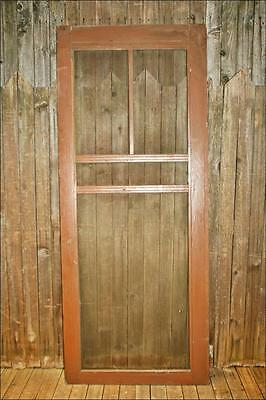 Vintage WOOD SCREEN DOOR wooden brown country rustic architectural salvage porch