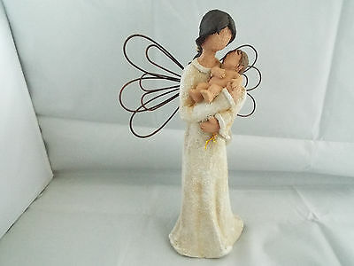 Guardian Angel With Baby Precious Moments By Regency Fine Arts 24cm Tall