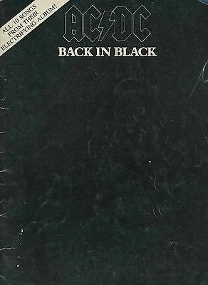AC/DC 1980 Back In Black Vintage Song Score Book Angus Young