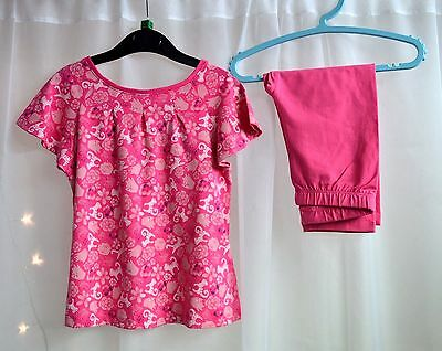 Girls Boutique Dark Print Pattern T-Shirt & Matching Leggings Outfit Age 8 years