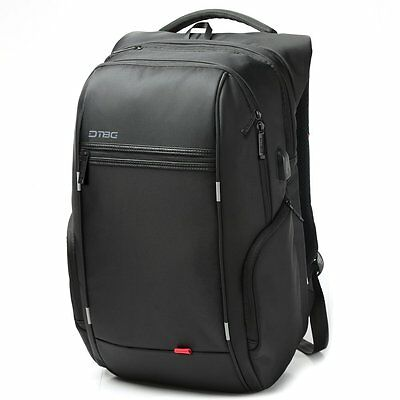 Notebook Backpack 15 17 Inch Waterproof Laptop Backpack+USB Charge Computer Bag