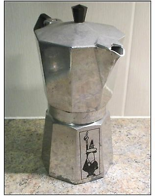 VINTAGE BIALETTI STOVE-TOP 6-CUP COFFEE MAKER, 1970's. GOOD WORKING ORDER.