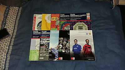 Community Shield Programmes x10 2000-2009 (All Listed)