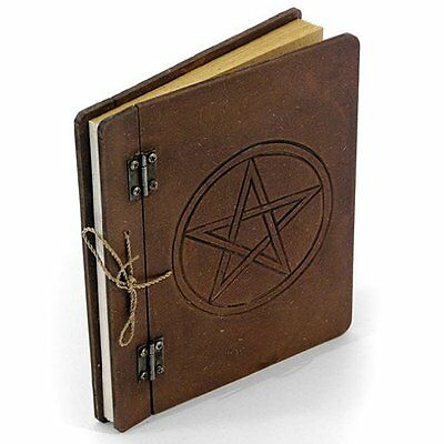 LARGE PENTAGRAM SPELL BOOK  OR JOURNAL - With Handmade Paper - Same Day Despatch