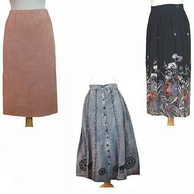Vintage 1970s 1980s Skirt Lot Chauncy-Vera Maxwell Ultra Suede Stone Washed