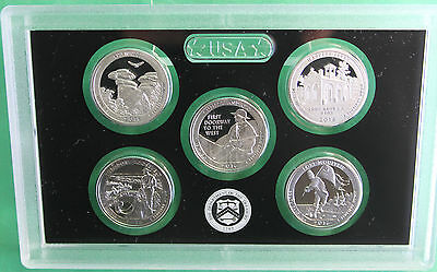 2016 S America the Beautiful Quarters Proof 90% SILVER ATB 5 Coin ONLY No BOX