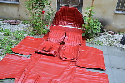 Seat covers for Mercedes W108 W109 W111 W110 190 Heckflosse Faux leather red top