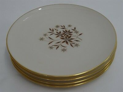 "Lenox China Starlight Salad Plates 7-7/8"" - Set Of 4 - Excellent"