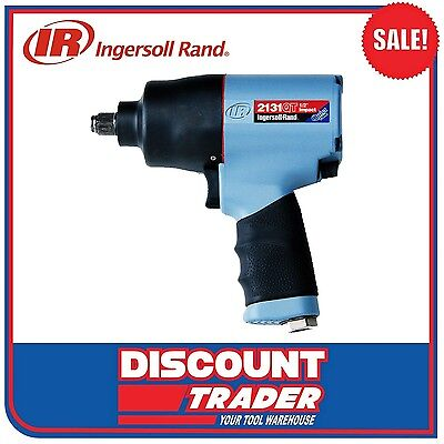 "Ingersoll Rand Pistol Grip Twin Hammer 1/2"" Air Impact Wrench Kit - 2131QT-KIT"
