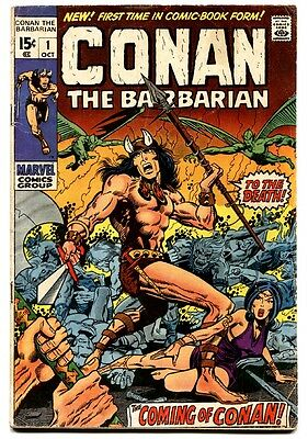 CONAN THE BARBARIAN #1 comic book 1970--BRONZE AGE KEY--MARVEL BARRY SMITH