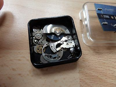 Cyma Ultraspeed 36000 By Synchron  Watch Movement Parts With Rare Dial