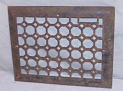 Vintage cast iron heating Grate Vent cover approx 11 x 14
