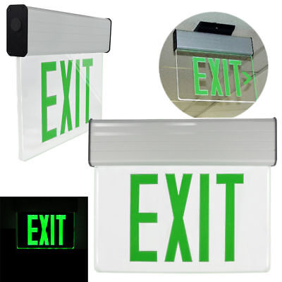 Green LED Lamps, Exit Sign with Emergency Lights