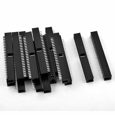 15 Pcs 50-Pin Double Dual Row Straight Box Header Connector Pitch 2.54mm