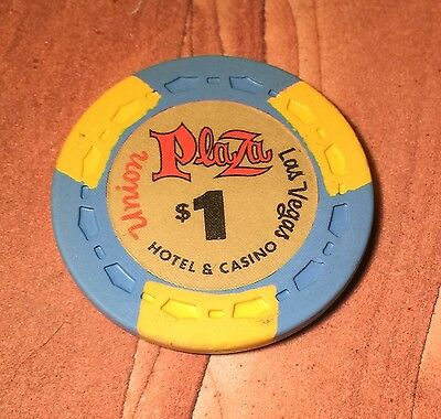 Vintage 1St Issue Union Plaza Casino $1 Poker Chip From Las Vegas!