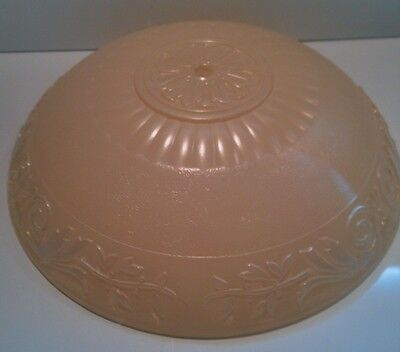 """Vntge 1940's Art Deco Pale Pink Imperial Glass Co Ceiling Light Shade 12"""""""