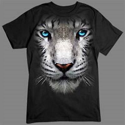 White Tiger in Your Face Mens Tank Top Size Small to X Large Pick Your Size