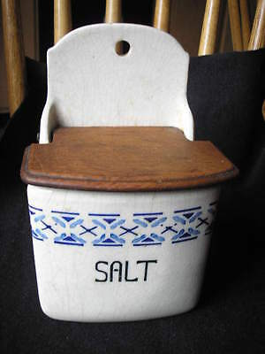 Large Made In Germany Salt Cellar W/wooden Top