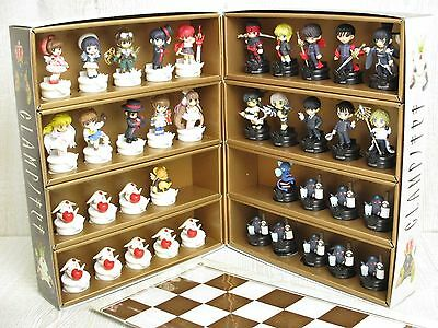 CLAMP NO KISEKI Complete Set 38 Chess Pieces Box Board with KERO SUPINEL Book