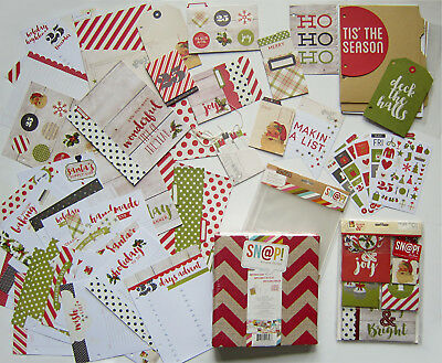New! SIMPLE STORIES [CLAUS & CO.] Holiday Planning Album-December Daily-Save 55%