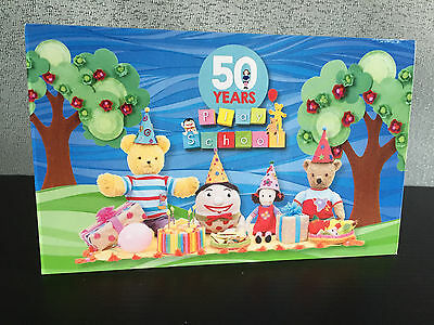 Brand New Mint Condition 50 Years of Playschool 2016 Stamp Set of 4 Folder