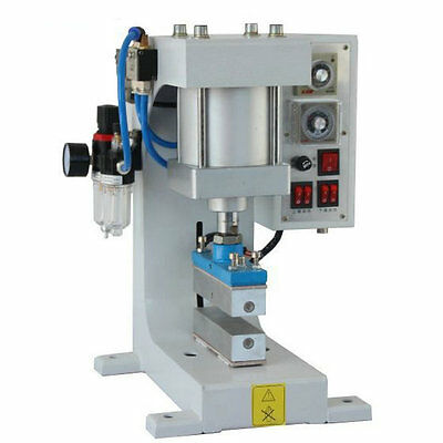 220V Pneumatic Hot Foil Stamping Machine LOGO Leather Wood Automatic Stamper