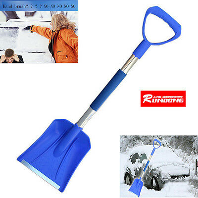 Car Home Survival Telescopic Emergency Shovel With Grip Camping Hiking Tools New