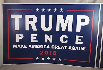 Lot Of 4 Make America Great Again Trump Pence President 2016 Rally House Signs T