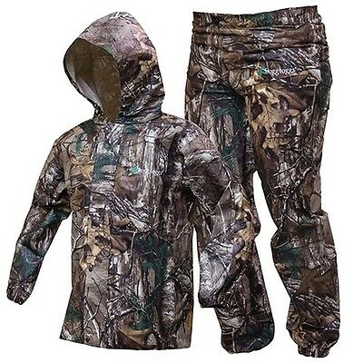Frogg Toggs PW6032-54LG Youth Realtree Xtra Polly Woggs Rain Suit - LG