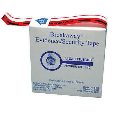 "Armor Forensics 768897 Lightning Powder 1 3/8""x108"" Roll Breakaway Evidence Tape"
