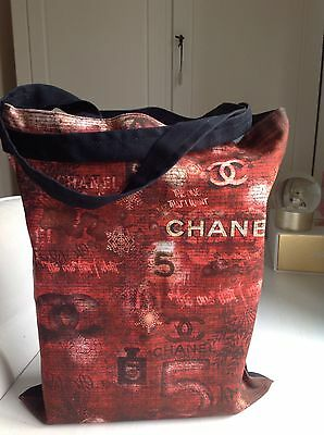 Authentic Chanel Canvas Bag Tote Brand New