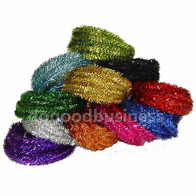 2m Colorful Shining Luxury Chunky Xmas Tinsel Garland Tree Room Home Party Decor