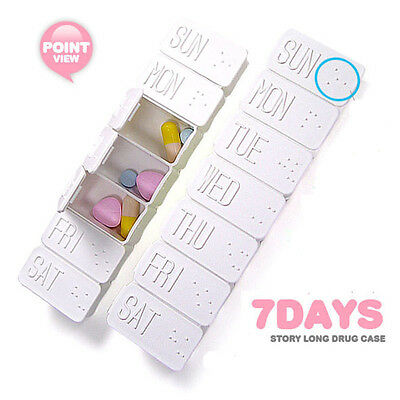 7 Day Tablet Pill Box Holder Organizer Weekly Medicine Storage Container Case FT