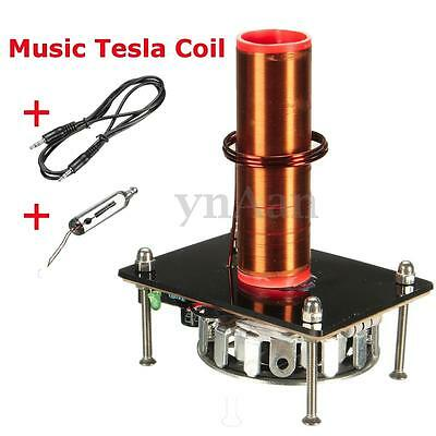1PC Speaker Tesla Coil Music Arc Plasma Wireless Transmission Experiment DIY New