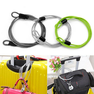 100cm x 2mm Cycling Security Loop Cable Lock Bicycle Bikes Scooter Guard U-Lock
