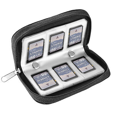 Neewer 8 Pages 22 Slots SD Card and Memory Card Case Pouch Carrying Case