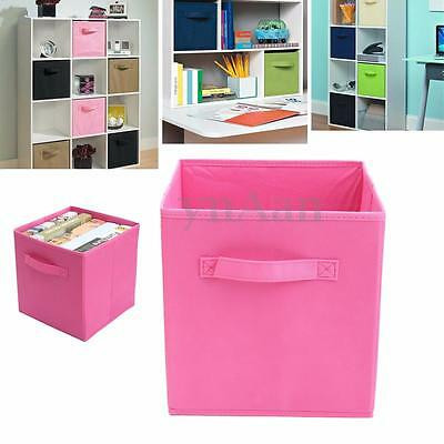 Foldable Storage Collapsible Folding Box Clothes Organizer Fabric Cube Drawer
