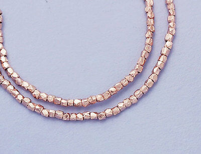 Karen hill tribe Rose Gold  Vermeil Style 180 Faceted Beads 1 mm.
