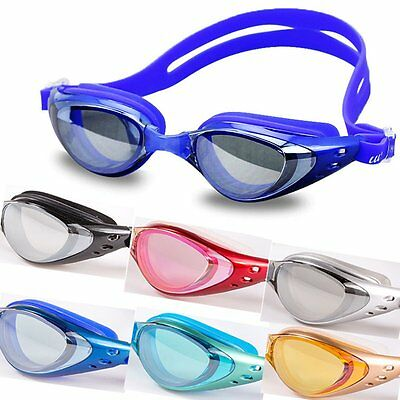 Adult Waterproof Anti-fog UV Protection Adjustable Swimming Googles Glasses BE