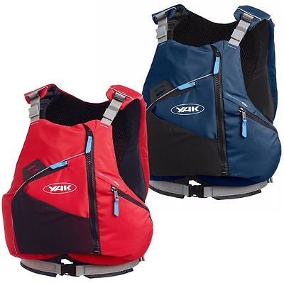 Yak High Back Kayaking Canoeing Touring Buoyancy Aid 60N 2017 - Navy or Red