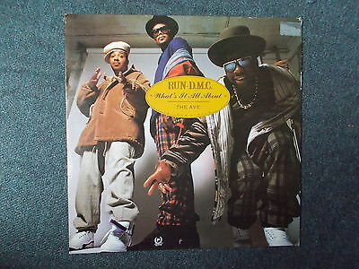 """Run-D.M.C. What's It All About / The Ave. 12"""" Profile Records 1990 PROFT 315"""